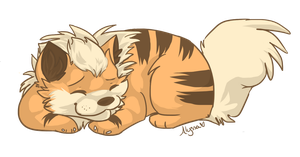 Growlithe Chibi by SnookiePup