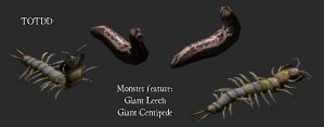 Giant Leech And Centipede by pickledtezcat