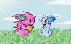 Nidoran's Valentine by nin10do-gamer
