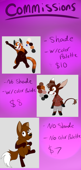 Commissions Sheet by ThePurpleWarden