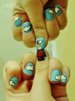 Snoopy NailArt 2 by natsy-alencar