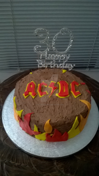 ACDC Cake by SaturnsLegacy