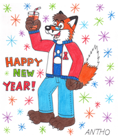 Antho wishes you a happy new year! by AnthoFur