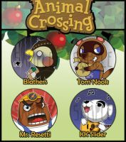 Animal Crossing Badges by kappapillon