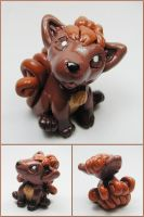 Baby Vulpix Sculpture by LeiliaClay