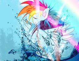 Rainbow in Water by 20PercentInu