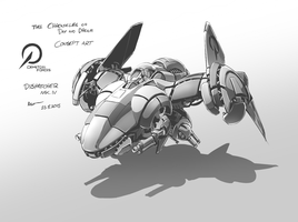 The CoDD Concept Art: Dispatcher MK IV by Nsio