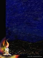 Candle Bright, Starry Night by Flynn-the-cat