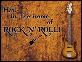 In the name of Rock'n'Roll by escariel