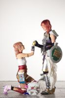 Lightning and Serah (FFXIII-2) by LightningTheArtist