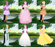 My Little Pony as Disney Princesses by PrincessBeautiful