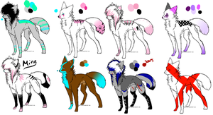 Cheap Point Scene Dog Adopts !OPEN! by AlyArmadillo
