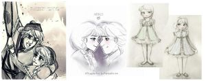 Frozen Sketches ( my latest Tumblr posts ) by MitsouParker
