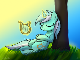 Lyra Heartstrings by DawnMistPony