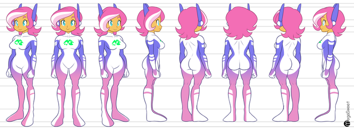 Megan Model Sheet by MegaSweet