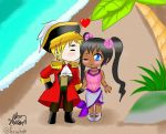 The Pirate and the Mermaid -Request- by bluebarnowl