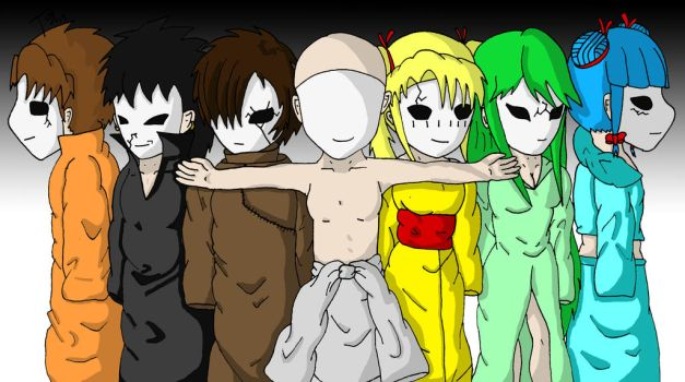 Seven Masked Demons by DraderArt
