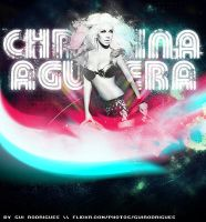 xtina in the space by electroxxtatic