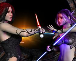 Sith and Jedi by sylveryne
