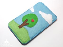 Felt iPhone case 2 by voodoogrl
