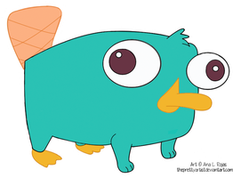 Perry the Platypus by ThePrettyArtist
