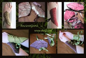 Woodland Leaf Cuffs by nolwen