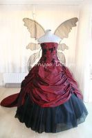 Goth wings wedding dress 3 by silverhippo