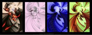 The Four Elements by juzo-kun