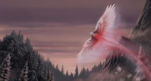 snow phoenix by OliverFord