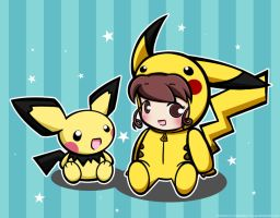 Playtime with Pichu and Celina by kyupi