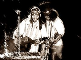 Axl and Slash in Argentina by JoannaEchelonRO