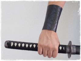 Spider Web Leather Bracer Inspired By Lolth by ChrisOnly