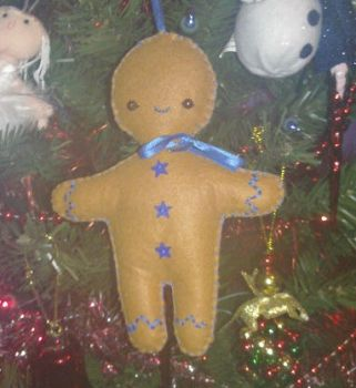 Gingerbread Man Tree Decoration by AshFantastic