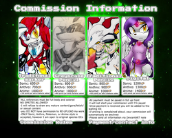 Summer Commissions 2015 (CLOSED! DON'T ASK!) by WickedZekrom