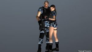 Chris and Lara Render by bstylez
