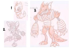 3stage evolution 01 by e4animation