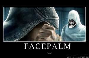 Assassin's Creed Revelations Facepalm Poster by ArteF4ct