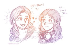 They are back .Bechloe by sexyfairy