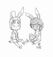 Easter Bunnies by StellaPollet