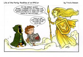 The quest giver- RPG comic by travisJhanson