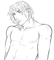 Manga Bishie Lineart For Sell (Sold) by TheComicStream