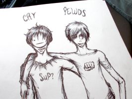 Cry And Pewds Ink 2 by Liquidemerald5