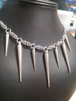 Steel Spike Necklace by BacktoEarthCreations