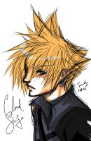 Art Trade: Cloud Strife by SnakeyHoHo