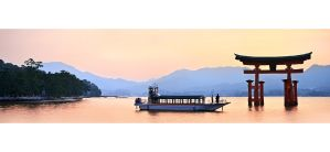 Itsukushima Shrine sunset by Patatoshka