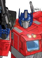 Optimus Prime by BloodySamoan