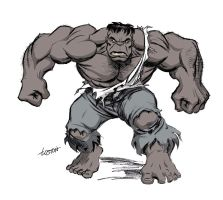 Gray Hulk by LostonWallace