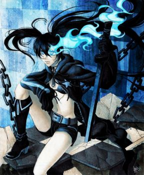 BLACK ROCK SHOOTER by lin-k0