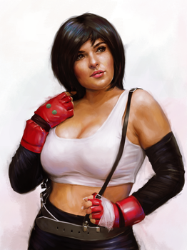 Tifa cosplayer painting by clc1997