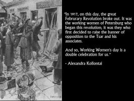 Alexandra Kollontai on Women's Day by Skargill